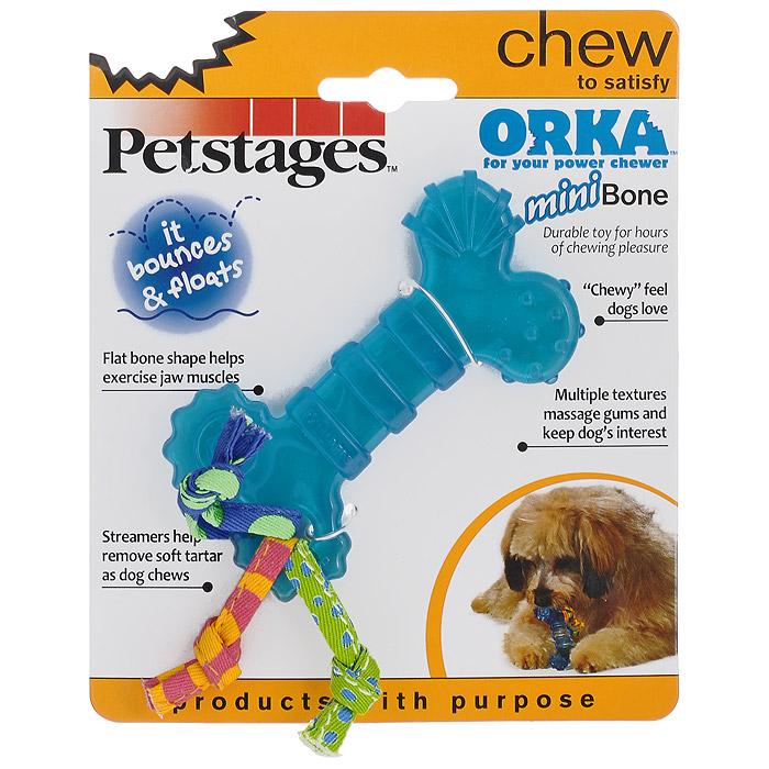 Игрушка для собак Petstages Mini Orka. Косточка0120710Игрушка для собак Petstages Orka. Косточка предназначена для собак мелких пород. Специальная форма способствует тренировке жевательных мышц и массажу десен. Изготовлена из синтетической резины. Этот материал настолько безопасен, что из него делают детские прорезыватели для зубов. Хлопковые канатики удаляют зубной налет, что способствует здоровью полости рта. Различная текстура игрушки поддерживает интерес к игре. Использование игрушки одобрено ветеринарами.Размеры игрушки: 10 см х 5 см х 1 см.