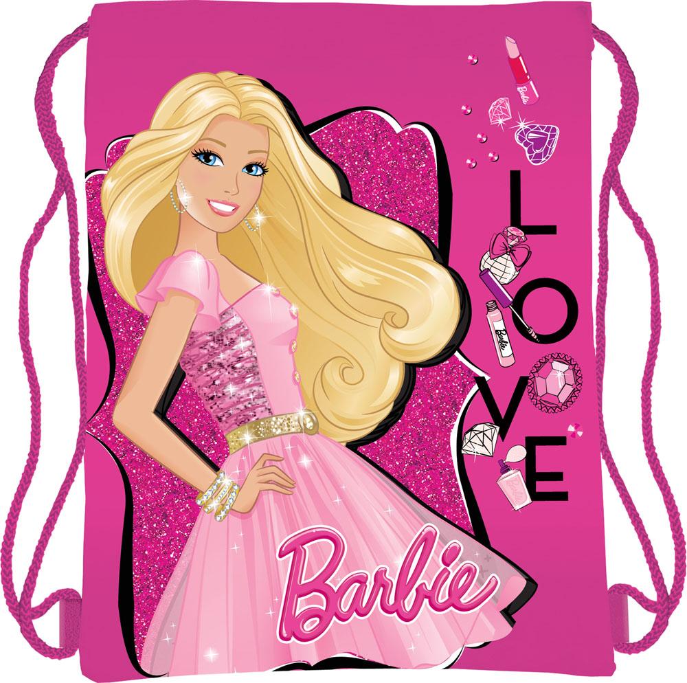 Сумка для сменной обуви Barbie, цвет: ярко-розовыйA-B86-05-CСумка для сменной обуви Barbie идеально подойдет как для хранения, так и для переноски сменной обуви и одежды. Сумка выполнена из мягкого водоотталкивающего материала и дополнена одним вместительным отделением, затягивающимся с помощью текстильного шнурочка. Шнурки фиксируются в нижней части сумки, благодаря чему ее можно носить за спиной как рюкзак. Оформлено изделие ярким принтом с изображением очаровательной куколки Барби.