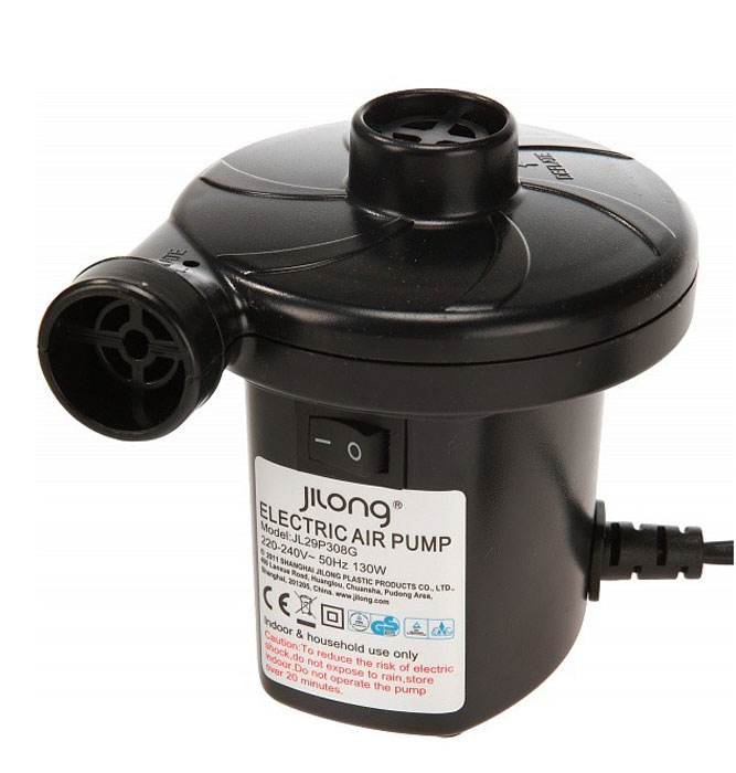 Насос электрический Jilong AC Electric, 220BKOCAc6009LEDНасос электрический Jilong AC Electric станет незаменимым в путешествиях или отдыхе на природе.- Напряжение 220В. - 3 дополнительные насадки различной конфигурации.