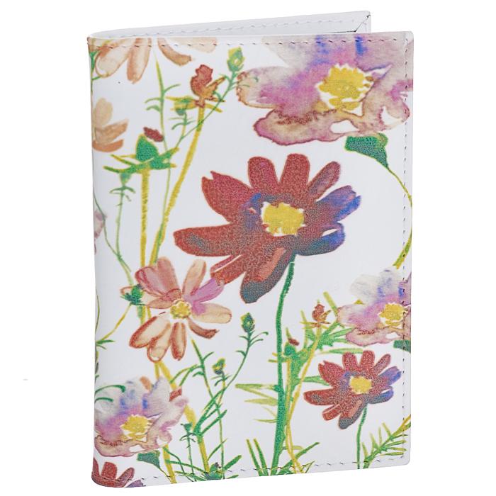 Обложка для автодокументов Perfecto Полевые цветы. VD-PT-191-022_516Обложка для автодокументов Perfecto Полевые цветы изготовлена из натуральной кожи белого цвета с изящным цветочным рисунком. Внутри содержится съемный блок из 6 прозрачных пластиковых файлов разного размера, а также 4 прорезных кармана для пластиковых карт. Обложка не только поможет сохранить внешний вид ваших документов и защитить их от повреждений, но и станет стильным аксессуаром, идеально подходящим вашему образу. Обложка для документов стильного дизайна может быть достойным и оригинальным подарком. Характеристики:Материал: натуральная кожа, ПВХ. Цвет: белый, красный. Размер обложки: 9,7 см х 13,3 см.