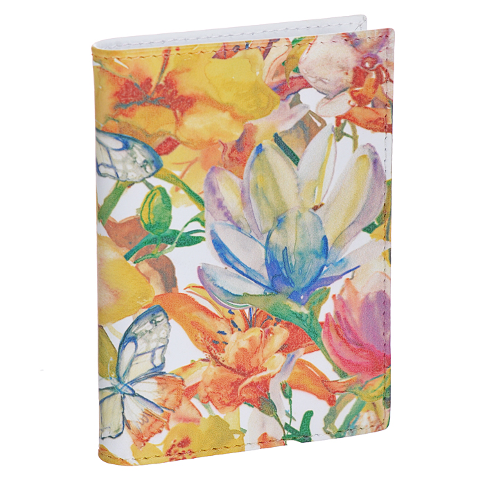 Визитница вертикальная Perfecto Цветы и бабочки. VZ-PT-18B16-11416Вертикальная визитница Perfecto Цветы и бабочки - это стильная и функциональная вещь для хранения визиток. Обложка выполнена из натуральной кожи с изящным цветочным узором. Внутри содержится съемный блок из прозрачного пластика, рассчитанный на 18 визиток или пластиковых карт. Файлы односторонние.Такая визитница станет замечательным подарком человеку, ценящему качественные и практичные вещи. Характеристики:Материал: натуральная кожа, ПВХ. Цвет: мультицвет. Размер визитницы (ДхШхВ): 7 см х 10,3 см х 1,3 см. Количество файлов: 18.