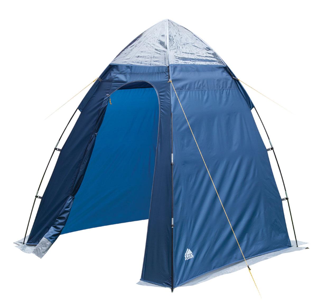 Тент Trek Planet Aqua Tent для душа/туалета, 165 см х 165 см х 200 см, цвет: синий, голубойKOC-H19-LEDУниверсальный тент-шатер Trek Planet Aqua Tent. Применяется для оборудования душа или туалета. Незаменим при длительном кемпинге или в полевом лагере. Оборудован верхней вентиляцией.Особенности тента:- внутренние большие карманы вверху палатки для туалетных принадлежностей;- крючок для подвески душа вверху тента, также может использоваться для подвески фонаря;- каркас выполнен из прочного стеклопластика;- защитная юбка по периметру;- водостойкость 800 мм.Палатка упакована в сумку-чехол с ручками, застегивающуюся на застежку-молнию. Размер в сложенном виде 15 см х 59 см.