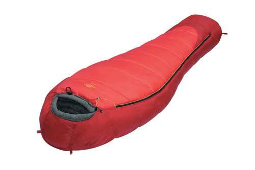 Спальный мешок Alexika Nord, цвет: красный, левосторонняя молния. 9227.0106010-01199-23Если вы любите зимний вид отдыха на природе, ну или, по крайней мере, глубокую осень, когда на дворе минусовая температура и морозец, то экстремальный спальный мешок Alexika Nord как раз то, что обеспечит вам комфортное время сна в эти холодный ночи. Благодаря повышенному содержанию синтетического утеплителя APF-Isoterm 3D теплый ночлег обеспечен даже при температуре в -10 °C. Но даже -24 °C этот мешок способен противостоять холоду. При более высоких плюсовых температурах, например десять-пятнадцать градусов вам также вполне обеспечен комфортный отдых. Огромное количество застежек сводят на нет проникновение холодного воздуха внутрь, сохраняя драгоценное тепло.Данный спальник будет отличным решением для экстремалов, которые отправляются надолго в ледяной климат, например в полярную экспедицию. И еще немаловажно то, что цена на данный спальный мешок невысокая, в особенности, если сравнивать ее с ценами на аналогичный товар других марок, или более легкие трекинговые мешки. Особенности:Форма спального мешка в виде короба 3D.Отделение под подушку с двумя входами.Мягкий валик вдоль окна капюшона.Лента от закусывания молнии.Удобные затяжки разного цвета и формы.Сетчатый внутренний карман.Внутренняя ткань капюшона Soft Micro Polyester Diamond RipStop. Анатомический капюшон.Теплый воротник с обхватом 360 градусов.Люминесцентная петля на замке молнии.Возможность состегивания спальников, имеющих молнии с правой и левой стороны.Петли для сушки.На треугольном клапане круглая липучка и светоотражающий ярлык.Утеплитель сформирован в пакеты, смещенные относительно друг друга на половину ширины пакета, что предотвращает проникновение холодного воздуха через швы.Размер в чехле: 45/35 см x 26 см. Внешняя ткань верх: Polyester 190T. Внешняя ткань низ: Polyester 190T Diamond RipStop PU 250 mm H2O. Внутренняя ткань: Polyester 190T. Утеплитель: APF-Isoterm 3D.