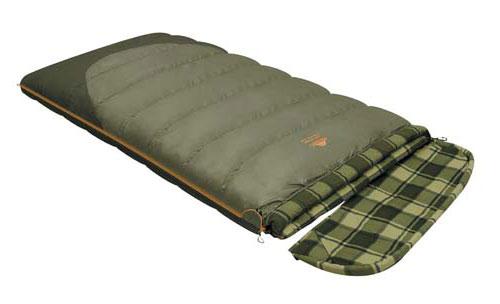 Спальный мешок-одеяло Alexika Siberia Wide Transformer, цвет: оливковый, левосторонняя молния. 9255.010729255.01072Качественный спальный мешок-трансформер Siberia Wide Transformer от Alexika - идеальный вариант для ночевки в кемпинге. Он наилучшим образом подойдет для отдыха, как весной, так и осенью. Спальник легко превращается в полноценное двуспальное одеяло, а также имеет отстегивающийся капюшон. Спальный мешок сделан из качественного материала с двухслойным силиконовым наполнителем, который прекрасно удерживает тепло и сохраняет форму после стирки. Наполнитель отличается повышенной устойчивостью к впитыванию запахов и влаги, а также нетоксичностью и негорючестью. Внутри мешок отделан приятной телу фланелевой подкладкой. Сохранить тепло в холодные ночи помогает и ватный валик, которым оторочен мешок по периметру. Он служит защитой от ветра и холодного воздуха, поступающего через молнию.Спальник Siberia Wide Transformer от Alexika застегивается на крепкую молнию с замком и люминесцентным бегунком, который позволяет легко находить мешок в темноте. С помощью молний по бокам к мешку можно пристегнуть другой спальник, что дает возможность увеличить площадь одеяла. Вдоль молнии имеется лента, предотвращающая заедание замка. Для хранения личных вещей внутри спальника предусмотрен сетчатый карман. Модель имеет петли для просушки мешка. Особенности:Отстегивающийся капюшонОтделение под подушку с двумя входами.Лента от закусывания молнии.Сетчатый внутренний карман.Люминесцентная петля на замке молнии.Возможность состегивания спальников, имеющих молнии с правой и левой стороны.Петли для сушки.На треугольном клапане круглая липучка и светоотражающий ярлык.Утеплитель сформирован в пакеты, смещенные относительно друг друга на половину ширины пакета, что предотвращает проникновение холодного воздуха через швы.Размер в чехле: 47/37 см x 27 см.Внешняя ткань верх: Polyester 190T. Внешняя ткань низ: Polyester 190T Diamond RipStop PU 250 mm H2O.Внутренняя ткань: Flannel.Утеплитель: 