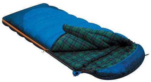 Спальный мешок-одеяло Alexika  Tundra Plus , цвет: синий, левосторонняя молния. 9257.01052 - Спальные мешки