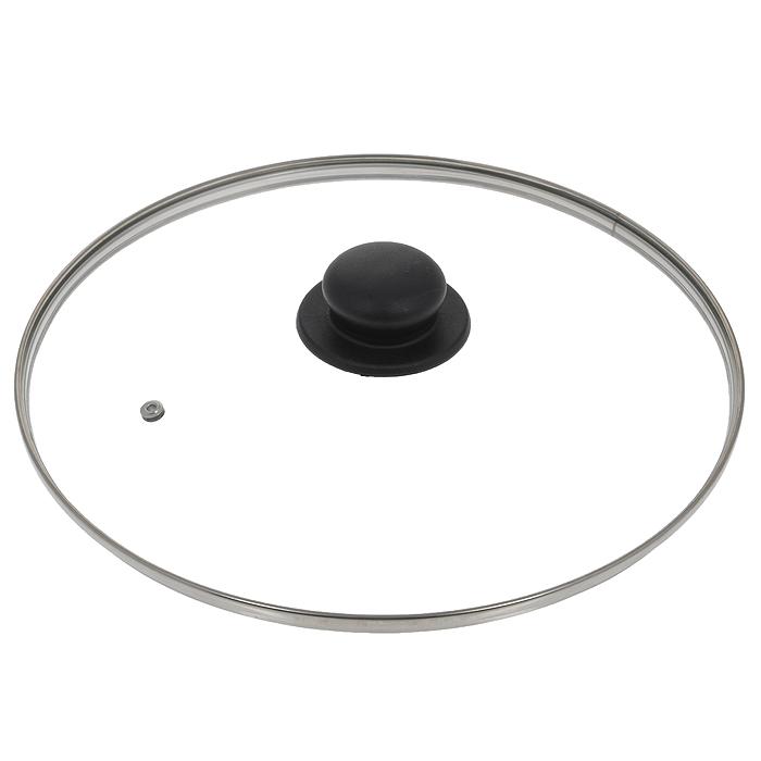 Крышка стеклянная Jarko. Диаметр 30 см115510Крышка Jarko, изготовленная из термостойкого стекла, позволяет контролировать процесс приготовления без потери тепла. Ободок из нержавеющей стали предотвращает сколы на стекле. Крышка оснащена отверстием для паровыпуска. Ненагревающаяся ручка выполнена из бакелита. Характеристики:Материал: стекло, нержавеющая сталь, бакелит. Диаметр крышки: 30 см.