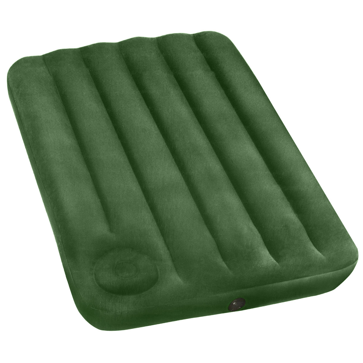 Матрас надувной Intex, флокированный, цвет: зеленый, 191 х 99 22 см. 66927