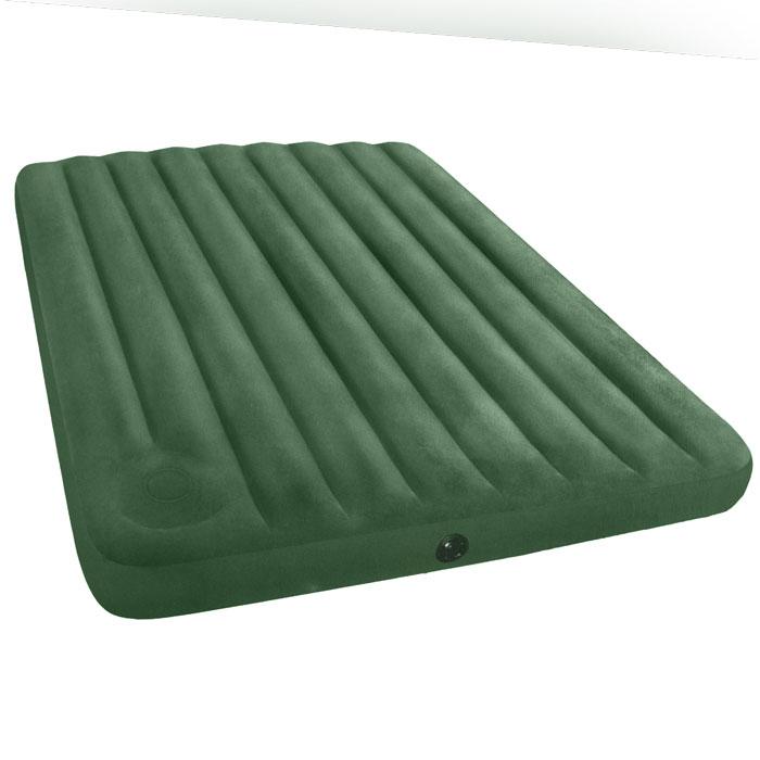 Матрас надувной Intex, флокированный, цвет: зеленый, 203 х 152 х 22 см. 66929