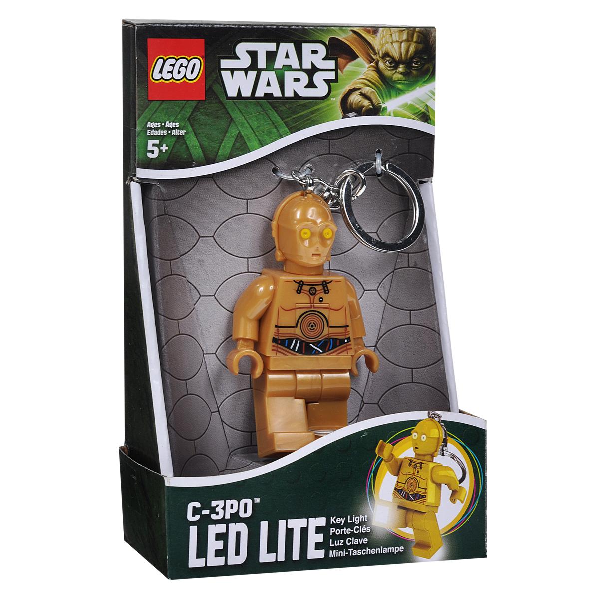 Брелок-фонарик для ключей Lego Звездные Войны lego lego брелок для ключей джестро