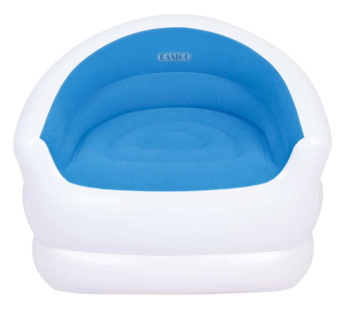 Кресло надувное RELAX COLOUR SPLASH, 94 см х 83 см х 76 см, цвет: синий, белый надувное кресло jilong relax colour splash blue white jl037257n