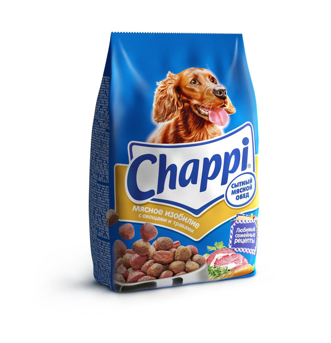 Корм сухой для собак Chappi Сытный мясной обед, мясное изобилие с овощами и травами, 600 г0120710Сухой корм Chappi Сытный мясной обед - это специально разработанная еда для собак с оптимально сбалансированным содержанием белков, витаминов и микроэлементов.Уникальная формула Chappi включает в себя все необходимые для здоровья компоненты: - мясо - для силы и энергии в течение дня; - овощи, травы и злаки - для отличного пищеварения; - масла и жиры - для блестящей шерсти и здоровой кожи; - кальций - для крепких зубов и костей; - витамины - для защиты здоровья; - минералы - для подержания собаки в оптимальной форме.Корм Chappi идеально подходит для вашего любимца как надежный источник жизненных сил. Состав: злаки, мясо и субпродукты, жиры животного происхождения, морковь, люцерна, растительные масла, минеральные вещества, витамины.Пищевая ценность в 100 г: белок - 18 г, жиры - 10 г, клетчатка - 7 г, влажность - не более 10 г, зола - 7 г, кальций - 0,8 г, фосфор - 0,6 г, витамин А - 500 МЕ, витамин D - 50 МЕ, витамин Е - 8 мг, витамины В2, В12, пантотеновая и никотиновая кислоты.Энергетическая ценность в 100 г: 350 ккал.Вес: 600 г.Товар сертифицирован.