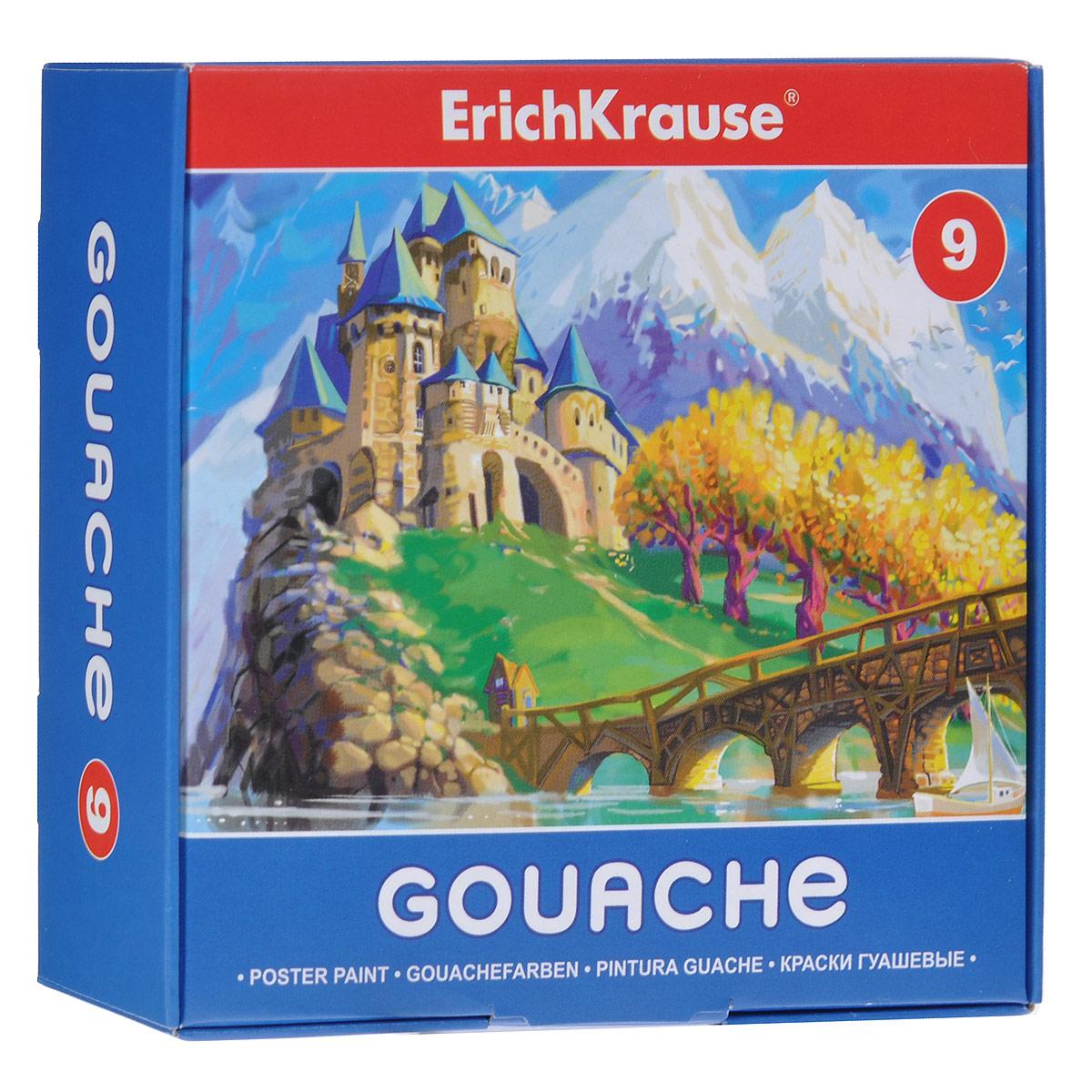 Гуашь Erich Krause, 9 цветовFS-00103Гуашь Erich Krause предназначена для декоративно-оформительских работ и творчества детей.В набор входят краски девяти цветов: белого, зеленого, оранжевого, красного, синего, коричневого, желтого, черного и лилового.Они легко наносятся на бумагу, картон и грунтованный холст. При высыхании приобретают матовую, бархатистую поверхность.