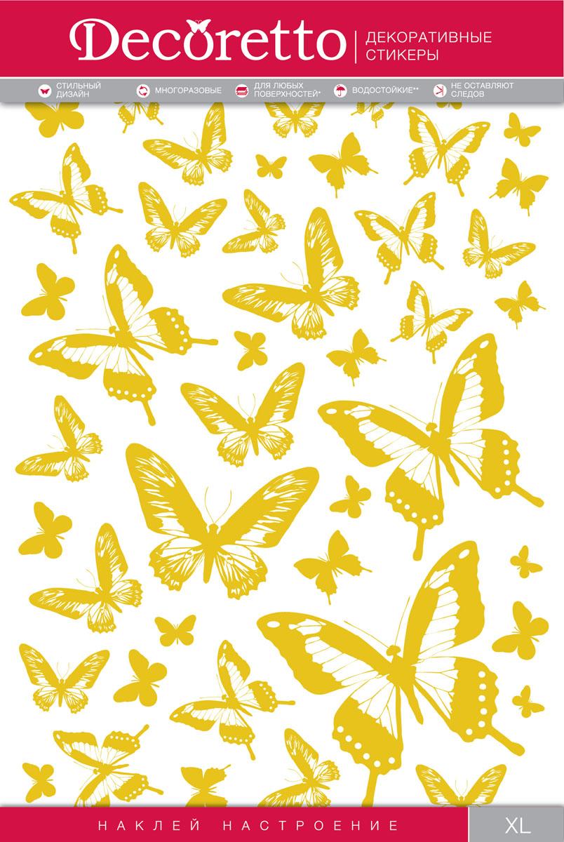 Украшение для стен и предметов интерьера Decoretto Золотые бабочки
