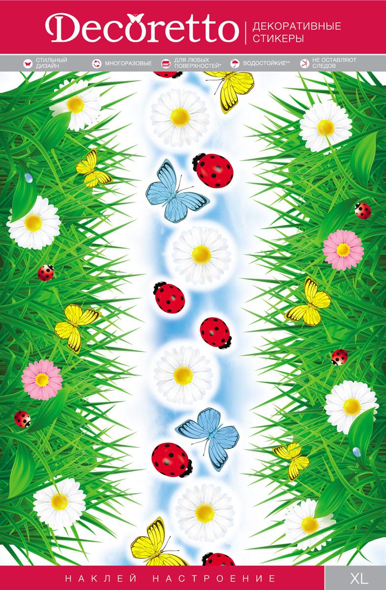Украшение для стен и предметов интерьера Decoretto Трава на лугу300164_черный, кошкиУкрашение для стен и предметов интерьера Decoretto Трава на лугу - это удивительно простой и быстрый способ оживить интерьер помещения. Интерьерные наклейки дадут вам вдохновение, которое изменит вашу жизнь и поможет погрузиться в мир ярких красок, фантазий и творчества. Украшение состоит из 15 самоклеящихся элементов в виде травы, цветов, бабочек и божьих коровок. Преимущества украшений Decoretto: - изготовлены из экологически безопасной самоклеящейся виниловой пленки с водоотталкивающей поверхностью, абсолютно безопасны для здоровья детей; - быстро и легко наклеиваются на любые ровные поверхности: стены, окна, двери, кафельную плитку, виниловые и флизелиновые обои, стекла, мебель; - при необходимости удобно снимаются, не оставляют следов и не повреждают поверхность (кроме бумажных обоев); - многоразовые - если вы решите изменить композицию, то просто снимите наклейки и наклейте их в другом месте; - специальный слой защищает поверхность от влаги и выгорания.Decoretto поможет изменить интерьер вокруг себя: в детской комнате и гостиной, на кухне и в прихожей, витрину кафе и магазина, детский садик и офис.