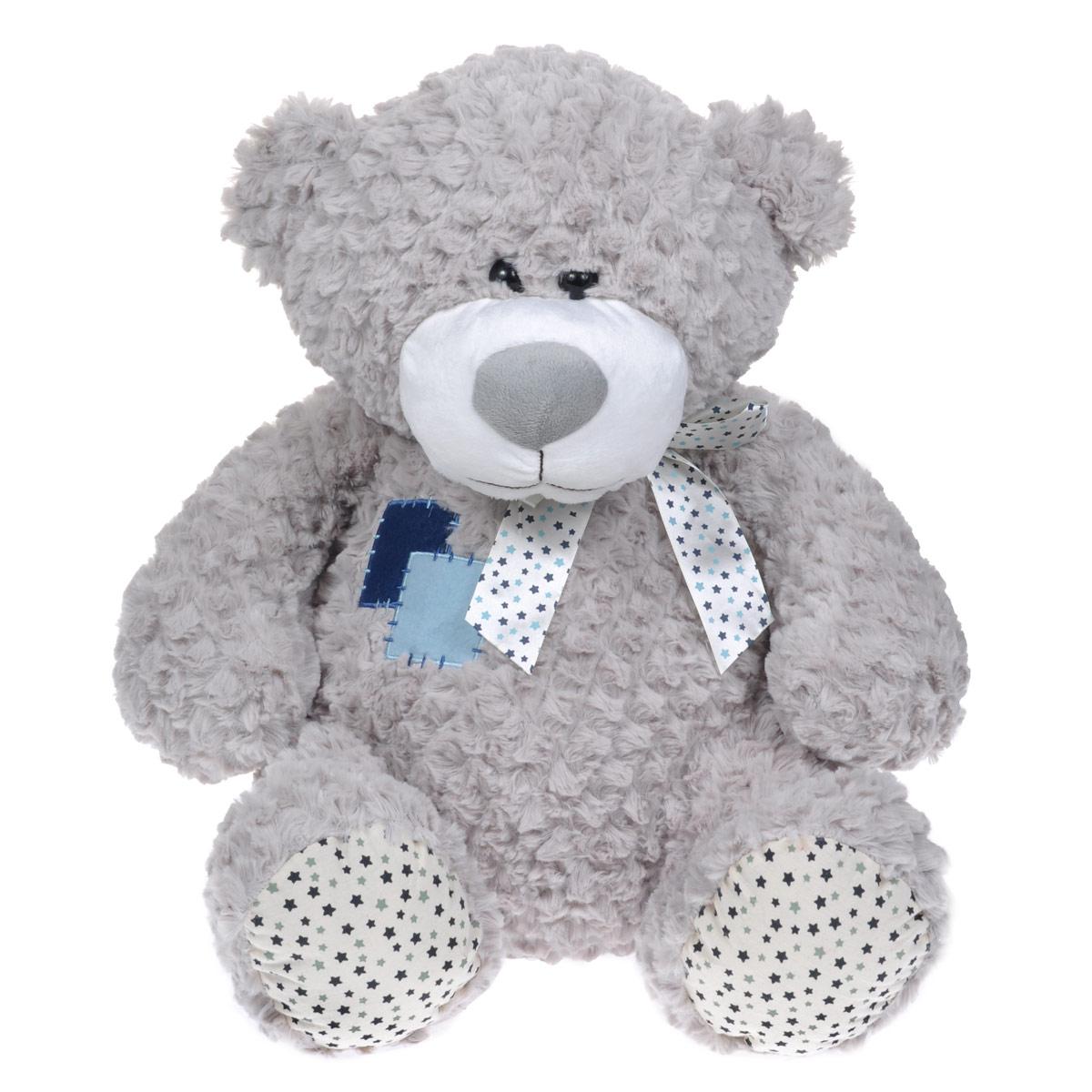 Мягкая игрушка Maxi Toys Мишка Жорик, цвет: серый, 50 см maxi toys мягкая игрушка антистресс
