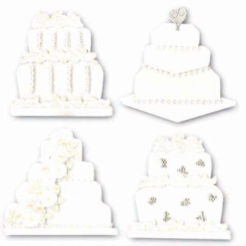 Стикеры объемные EKSuccess Tools Свадебные торты, 4 предметаTHN132NСтикеры объемные EKSuccess Tools Свадебные торты прекрасно подойдут для оформления творческих работ в технике скрапбукинга. Их можно использовать для украшения фотоальбомов, скрап-страничек, подарков, конвертов, фоторамок, открыток и т.д. Стикеры оформлены в виде свадебных цветов. Задняя сторона клейкая. В наборе - 4 стикера разного размера и дизайна. Скрапбукинг - это хобби, которое способно приносить массу приятных эмоций не только человеку, который этим занимается, но и его близким, друзьям, родным. Это невероятно увлекательное занятие, которое поможет вам сохранить наиболее памятные и яркие моменты вашей жизни, а также интересно оформить интерьер дома.