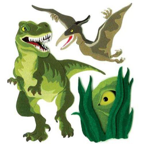Стикеры объемные EKSuccess Tools Динозавры, 3 предметаTHN132NСтикеры объемные EKSuccess Tools Динозавры прекрасно подойдут для оформления творческих работ в технике скрапбукинга. Их можно использовать для украшения фотоальбомов, скрап-страничек, подарков, конвертов, фоторамок, открыток и т.д. Стикеры оформлены в виде динозавров. Задняя сторона клейкая. В наборе - 3 стикера разного размера и дизайна. Скрапбукинг - это хобби, которое способно приносить массу приятных эмоций не только человеку, который этим занимается, но и его близким, друзьям, родным. Это невероятно увлекательное занятие, которое поможет вам сохранить наиболее памятные и яркие моменты вашей жизни, а также интересно оформить интерьер дома.
