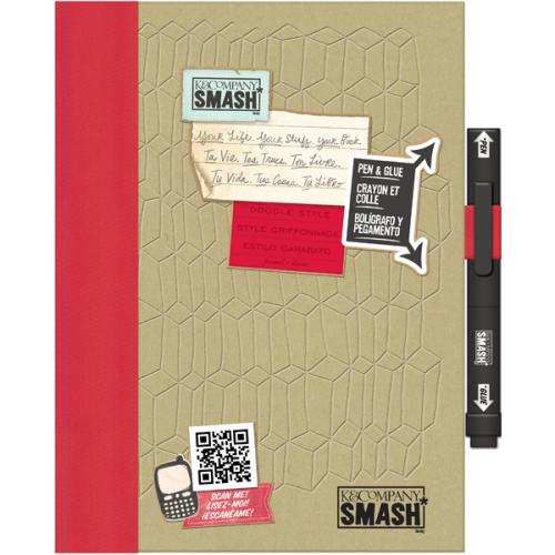 Папка K&Company Smash: Красный дудл, 26 см х 20 смCP05627Папка Smash используется для создания памятных альбомов и записных книжек. Папка содержит тематически оформленные страницы и памятные фразы на иностранном языке. Включает в себя 40 страниц и ручку-клей Smash черного цвета (без кислоты, архивного качества).