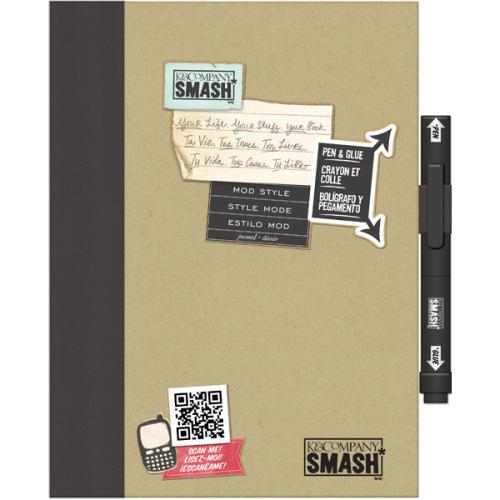 Папка K&Company Smash: Модный, цвет: черный, 26 х 20 смKCO-30-615137Папка Smash используется для создания памятных альбомов и записных книжек. Папка содержит тематически оформленные страницы и памятные фразы на иностранном языке. Включает в себя 40 страниц и ручку-клей Smash черного цвета (без кислоты, архивного качества).