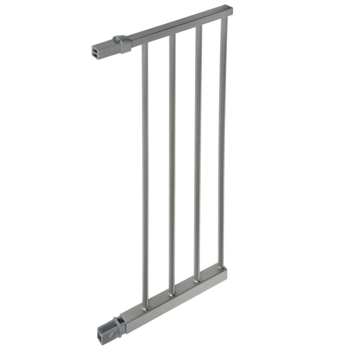 """Дополнительная секция к защитным воротам Lindam """"Sure Shut"""", выполненная из металла серебристого цвета подходят к Lindam """"Sure Shut Deco"""" 75-82 см. Дополнительная секция позволяет увеличить ширину ворот на 28 см. С каждой стороны ворот можно устанавливать по 2 дополнительных секции и даже более, если не уменьшается их устойчивость."""