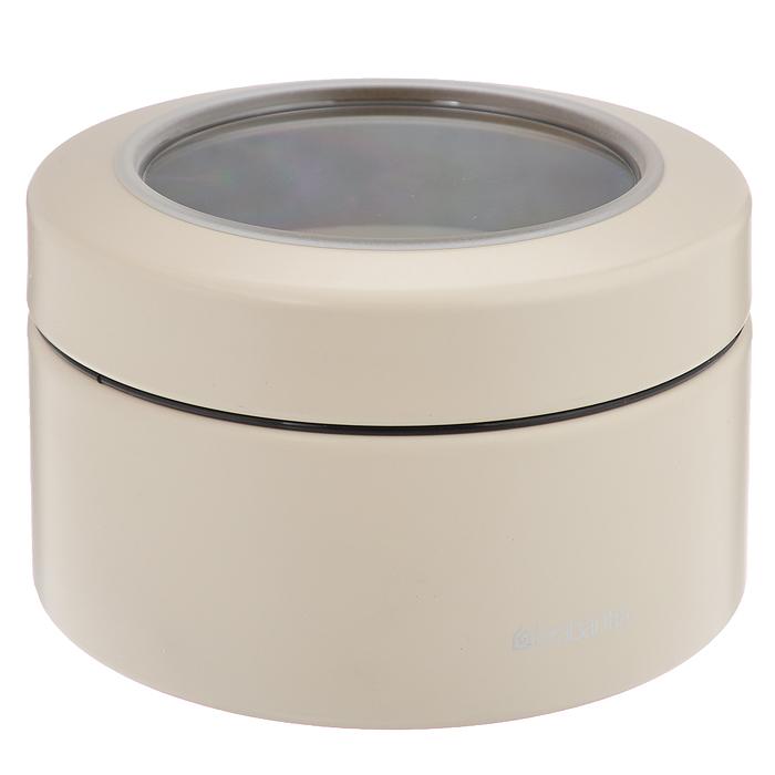 Контейнер Brabantia с крышкой, 0,5 л, цвет: молочный. 47798021395599Контейнер Brabantia прекрасно подойдет для хранения сладостей. Он изготовлен из стали. Благодаря прозрачности крышки вы можете видеть содержимое контейнера. Удобный и легкий контейнер позволит вам хранить всевозможные сладости, а благодаря современному дизайну он впишется в любой интерьер. Характеристики:Материал: сталь. Размер контейнера: 10,5 см х 10,5 см х 6,5 см. Объем контейнера: 0,5 л. Гарантия производителя: 5 лет.