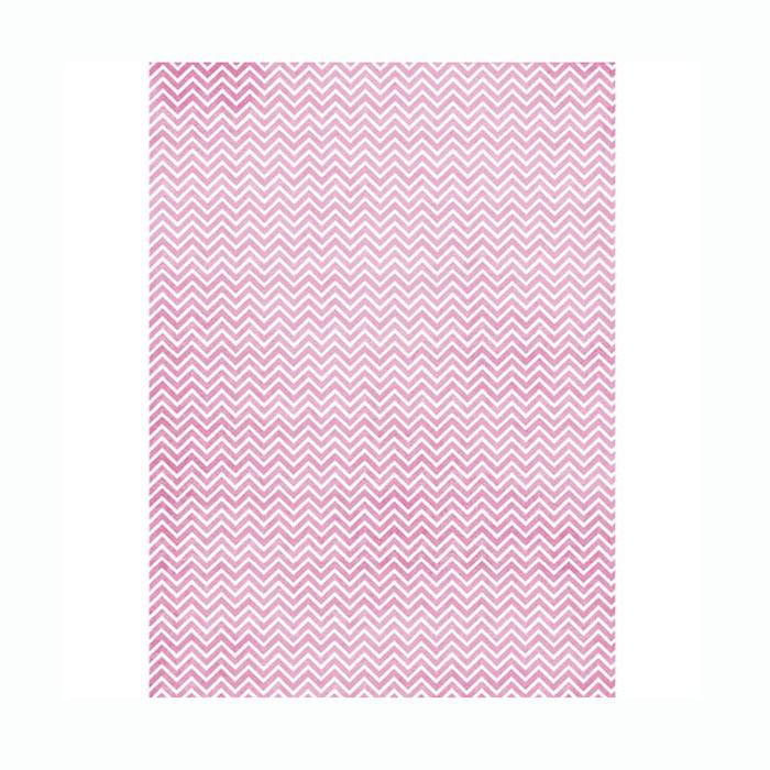 Рисовая бумага для декупажа Craft Premier Розовый зиг-заг, A3CP01556