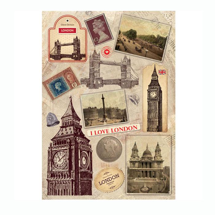 Рисовая бумага для декупажа Craft Premier Прогулка по Лондону, A3CP01716