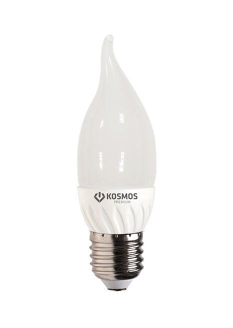 Светодиодная лампа Kosmos Premium, теплый свет, цоколь Е27, 3WC0042416Использование светодиодов от мирового лидера SAMSUNG и предоставление 2 лет гарантии – залог надежной и стабильной работы лампы. Теплый оттенок света лампы по цветовой температуре соответствует обычной лампе накаливания и позволит создать уют в спальнях и местах отдыха.