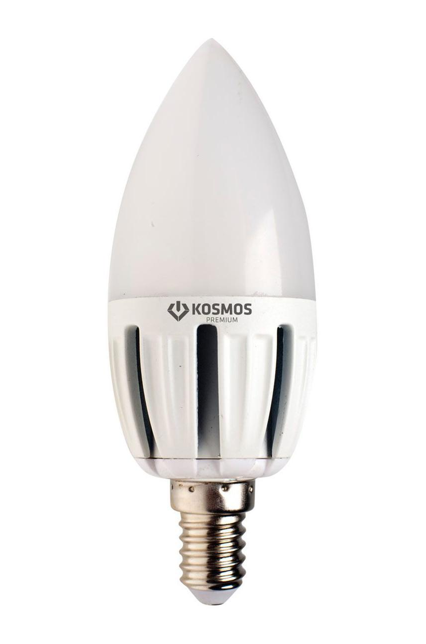Светодиодная лампа Kosmos Premium, теплый свет, цоколь Е27, 5W. KLED5wCN230vE2727C0038551Использование светодиодов от мирового лидера SAMSUNG и предоставление 2 лет гарантии – залог надежной и стабильной работы лампы. Теплый оттенок света лампы по цветовой температуре соответствует обычной лампе накаливания и позволит создать уют в спальнях и местах отдыха.