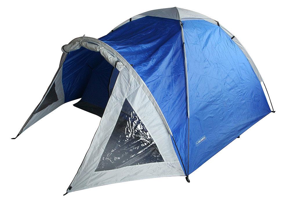 Палатка Nevada Plus, двуслойная, цвет: синий2739Двуслойная палатка Nevada Plus - удобная палатка с одним входом для трёх-четырех человек. Дно - терпаулинг.Дуги фибергласовые 3 x 7,9 мм, швы проклееные, каркас внешний. Также имеется просторный светлый тамбур при входе в палатку с обзорными окнами. Палатка предназначена для путешествий. Упакована в чехол с удобной ручкой для переноски. Характеристики: Размер: 90 см + 205 см х 210 см х 130 см. Материал внешнего тента: полиэстер 75D/190T. Материал внутренней палатки: полиэстер 17ОТ. Материал пола: терпаулинг. Материл дуги: фиберглас 7,9 мм. Количество мест: 3-4. Водонепроницаемость тента: 2000 мм. Водонепроницаемость пола: 5000 мм. Вес палатки: 3,65 кг.Артикул:2739. Производитель: Финляндия.