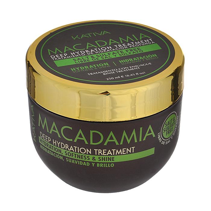 Kativa Интенсивно увлажняющий уход для нормальных и поврежденных волос с маслом макадамии MACADAMIA, 250млFS-54114Маска-уход возвращает волосам природную силу, восстанавливая изнутри их структуру. После использования они становятся послушными, гладкими и сияют здоровьем. Масло макадамии обеспечивает глубокое увлажнение, разглаживает чешуйки волос, предотвращает их ломкость.Способ применения: нанести на чистые влажные волосы по всей длине. Оставить на 10-15 минут для глубокого воздействия, а затем тщательно смыть. Рекомендуется использовать 2 раза в неделю.Товар сертифицирован.