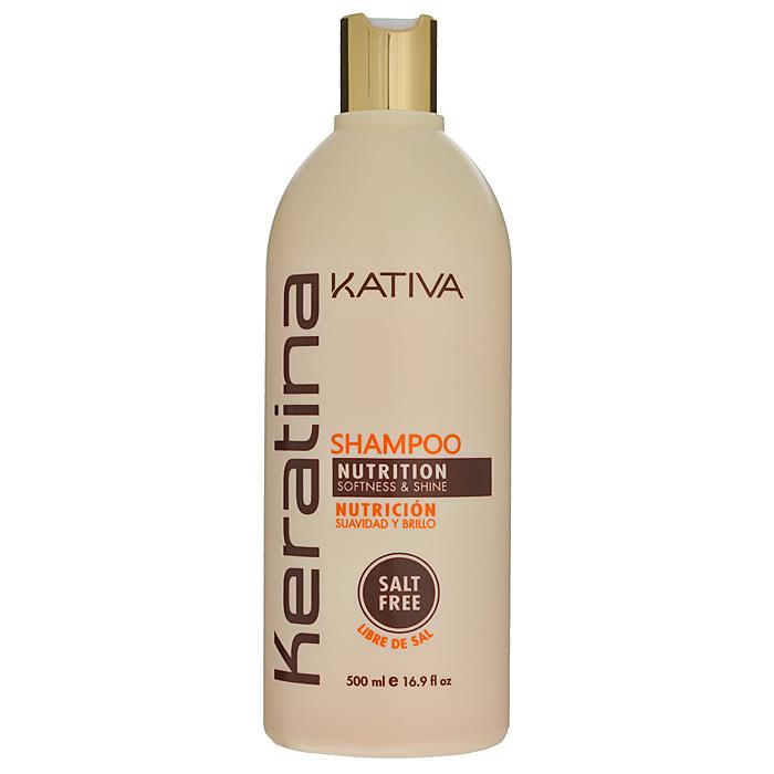 Kativa Укрепляющий шампунь с кератином для всех типов волоc KERATINA, 500 мл72523WDРоскошный шампунь, богатый кератином, обеспечивает надежную защиту и восстановление окрашенных волос, а также волос, поврежденных механическими или температурными воздействиями. Защищает волосы, предотвращает их ломкость. Шампунь обогащен аргановым маслом и кератином. Увлажняет волосы, оставляет их блестящими и гладкими. Защищает волосы и предотвращает их сухость. Способствует выпрямлению. Укрепляет и восстанавливает волосы после химических воздействий. Не содержит сульфата.Способ применения: равномерно нанесите на влажные волосы, вспеньте и сделайте легкий массаж. Тщательно смойте. При необходимости повторите процедуру.