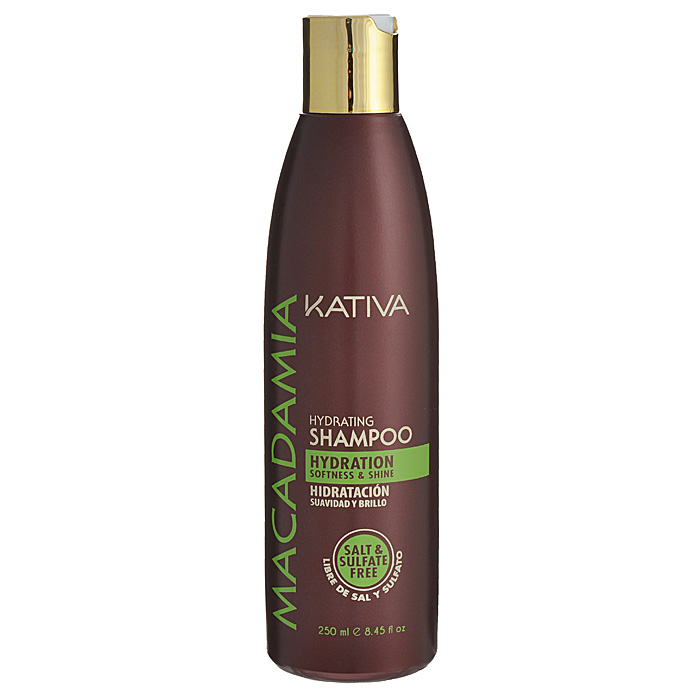 Kativa Интенсивно увлажняющий шампунь для нормальных и поврежденных волос MACADAMIA, 250млMP59.4DШампунь обеспечивает превосходное увлажнение и питание поврежденным волосам. Масло макадамии, являющееся основным компонентом шампуня, устраняет сухость волос, предупреждая расслаивание кончиков. Гладкость и блеск шелка ваших волос перестанут быть роскошью!Способ применения: равномерно нанесите на влажные волосы, вспеньте и сделайте легкий массаж. Тщательно смойте. При необходимости повторите процедуру.