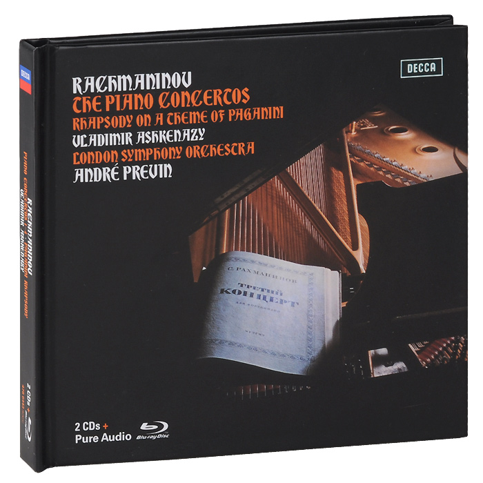Владимир Ашкенази,The London Symphony Orchestra,Андрэ Превен Vladimir Ashkenazy. Rachmaninov. Piano Concertos 1-4 / Paganini Rhapsody. Limiten Edition (2 CD + Blu-ray Audio) рик уэйкман the london symphony orchestra english chamber choir давид мишам rick wakeman journey to the centre of the earth 3 cd dvd
