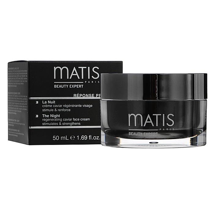 Matis Крем для лица, ночной, 50 мл36894Ночной крем на основе черной икры - прекрасный стимулятор для обновления клеток в ночное время. Крем с мягкой текстурой и большим количеством активных компонентов. Стимулирует метаболизм и естественное обновление клеток. Питает, увлажняет, оживляет кожу, укрепляет ее защитную систему.Экстракт черной икры, Морской гликоген, Экстракт тамаринда, Масло карите.вечером наносить крем легкими массажными движениями на очищенную кожу лица, шеи и декольте.