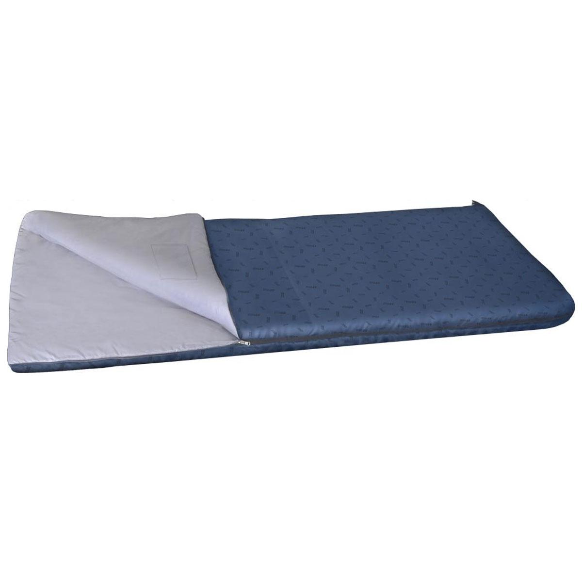 Спальный мешок-одеяло Nova Tour Валдай 300, цвет: синий, левосторонняя молния. 95210-402-0067744Спальный мешок Валдай 300 - это ваш первый спальник, отличный вариант для начинающего туриста. Если вам трудно определиться с условиями, в которых будет использоваться спальник, то Валдай 300 именно тот вариант, универсальный, недорогой и надежный. Купив спальный мешок Валдай 300, вы получаете полноценный отдых без особых материальных затрат. Температурные характеристики этого спальника предполагают его использование в теплое время года. Два слоя новейшего утеплителя улучшенной серии Thermofibre-S-Pro, легкая ткань верха Polyester 100% и отсутствие дополнительного подголовника обеспечили низкий вес спальника Валдай 300 и небольшие размеры в свернутом виде. Спальник компактно упаковывается в компрессионный мешок.Благодаря двухзамковой молнии, имеется возможность состегнуть два спальника в один двойной,для совместного, еще более комфортногоотдыха.Ткань верха: Polyester 100%.Внутренняя ткань: Polyester 100%.