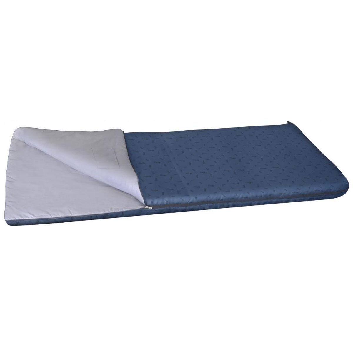 Спальный мешок NOVA TOUR Валдай 450, левосторонняя молния, цвет: синий95211-402-00Комфортный демисезонный спальный мешок NOVA TOUR Валдай 450, трансформирующийся при необходимости в теплое одеяло.Спальный мешок серии весна-осень, конструкции одеяло с синтетическим наполнителем. Для уменьшения веса изготавливается без подголовника. Благодаря двухзамковой молнии, имеется возможность состегнуть два спальника в один двойной. Для сушки и проветривания изделия предусмотрены две петли в нижней части мешка. Компрессионный мешок в комплекте.