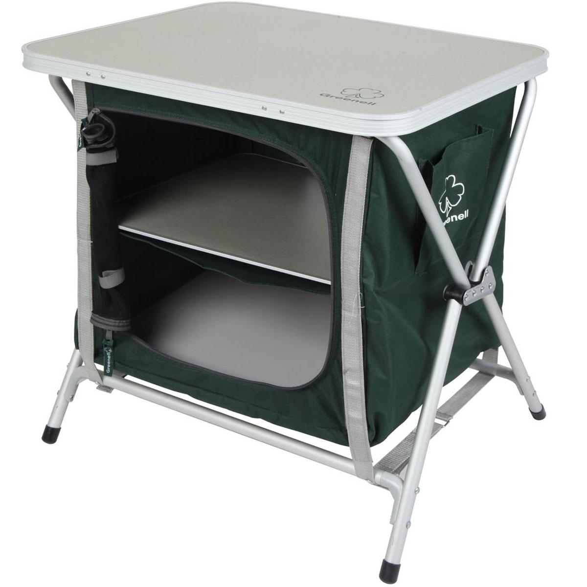 Стеллаж складной Greenell FR-5S, цвет: зеленый. 95223-303-0095223-303-00Складной стеллаж пригодится для отдыха на природе. Стеллаж незаменим для отдыха на свежем воздухе, во время выездов к озеру, в лес с палаткой, на пикники. Любителю отдыхать на природе полезно иметь в багажнике компактный складной стеллаж Greenell FR-5S. В комплекте удобный чехол-сумка для переноски и хранения.Максимальная нагрузка: 30 кг.