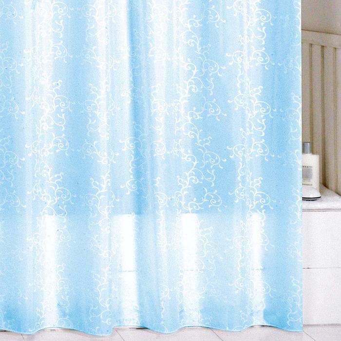 Штора для ванной комнаты Milardo Blue Leaf, 180 х 200 см SCMI083P68/5/3Штора для ванной комнаты Milardo, изготовлена из полиэстера с водоотталкивающей пропиткой, декорирована витиеватым рисунком. Штора быстро сохнет, легко моется (разрешена деликатная стирка в стиральной машине при температуре 30°С без отжима) и обладает повышенной износостойкостью, благодаря двойной обработке краев и устойчивым красителям. Вверху предусмотрены металлические люверсы. В комплекте также имеется 12 пластиковых колец. Штора для ванной Milardo порадует вас своим ярким дизайном и добавит уюта в ванную комнату.