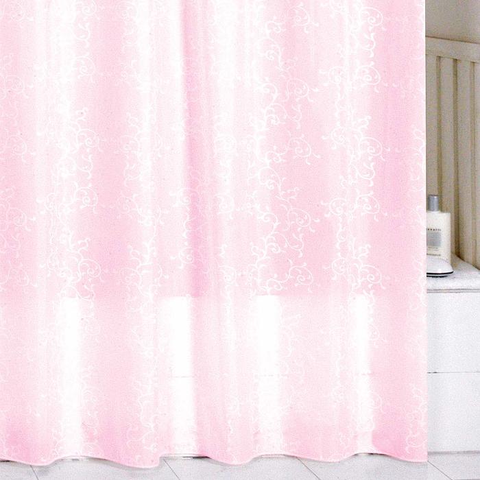Штора для ванной комнаты Milardo Pink Leaf, 180 х 200 см SCMI085P391602Штора для ванной комнаты Milardo, изготовлена из полиэстера с водоотталкивающей пропиткой, декорирована витиеватым рисунком. Штора быстро сохнет, легко моется (разрешена деликатная стирка в стиральной машине при температуре 30°С без отжима) и обладает повышенной износостойкостью, благодаря двойной обработке краев и устойчивым красителям. Вверху предусмотрены металлические люверсы. В комплекте также имеется 12 пластиковых колец. Штора для ванной Milardo порадует вас своим ярким дизайном и добавит уюта в ванную комнату.
