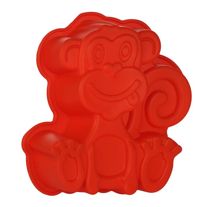 Форма для выпечки Обезьяна, цвет: красный. 842-023391602Форма для выпечки Обезьяна изготовлена из силикона красного цвета - материала, который выдерживает температура от -22°С до +250°С. Изделия из силикона очень удобны в использовании: пища в них не пригорает и не прилипает к стенкам, легко моется. Изделие обладает эластичными свойствами: складывается без изломов, восстанавливает свою первоначальную форму. Подходит для приготовления в микроволновой печи и духовом шкафу при нагревании до +250°С; для замораживания до -22°С и чистки в посудомоечной машине. Рекомендации по использованию: - не помещайте форму непосредственно на источник тепла (открытый огонь, гриль), - не используйте нож для резки продуктов в форме, - не используйте для чистки абразивные средства, скребки и щетки. Характеристики:Материал: силикон. Цвет: красный. Размер формы: 19 см х 17 см. Изготовитель: Китай.