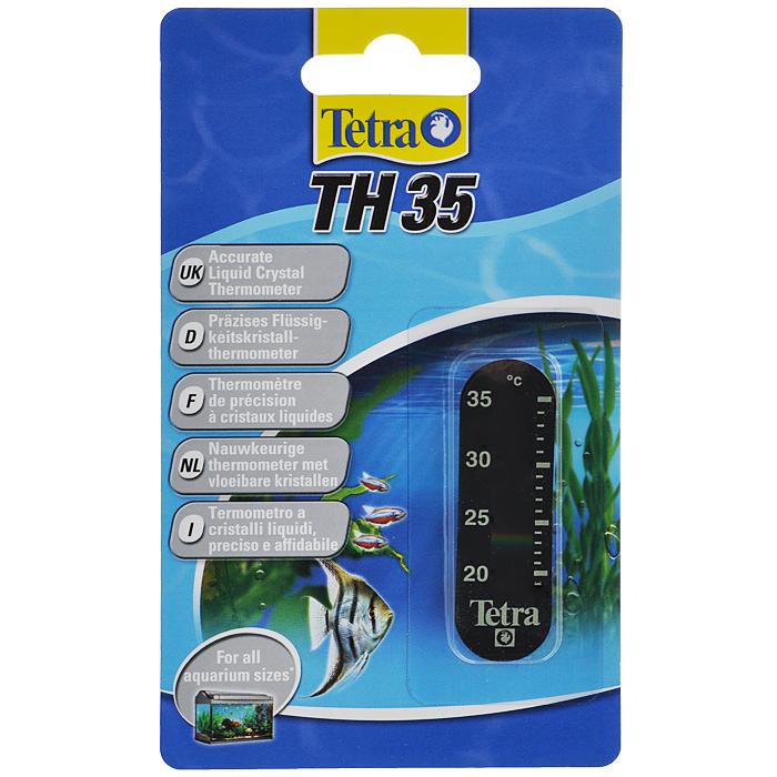 Термометр для аквариума Tetra TH3512171996Точный жидкокристаллический термометр крепится на внешней стороне аквариумного стекла.Точно измеряет температуру воды в диапазоне 20-35°С.Легко считываемые показания прибора.Компактный, приятный дизайн.