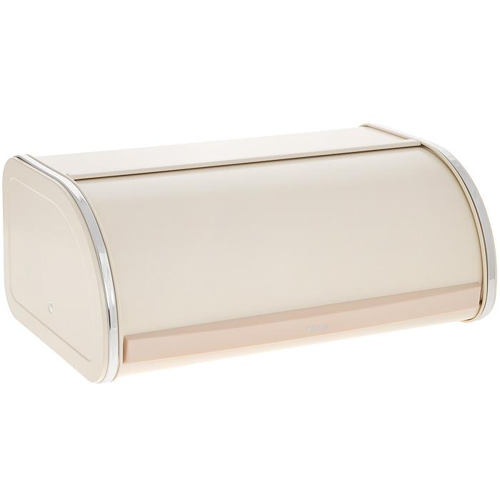 Хлебница Brabantia, цвет: бежевый. 380327VT-1520(SR)Хлебница Brabantia изготовлена из высококачественной нержавеющей стали с покрытием бежевого цвета. Изделие оснащено удобной, плотно закрывающейся крышкой с пластиковой вставкой. Вместительность, функциональность и стильный дизайн позволят хлебнице Brabantia стать не только незаменимым аксессуаром на кухне, но и предметом украшения интерьера. В ней хлеб всегда останется свежим и вкусным.