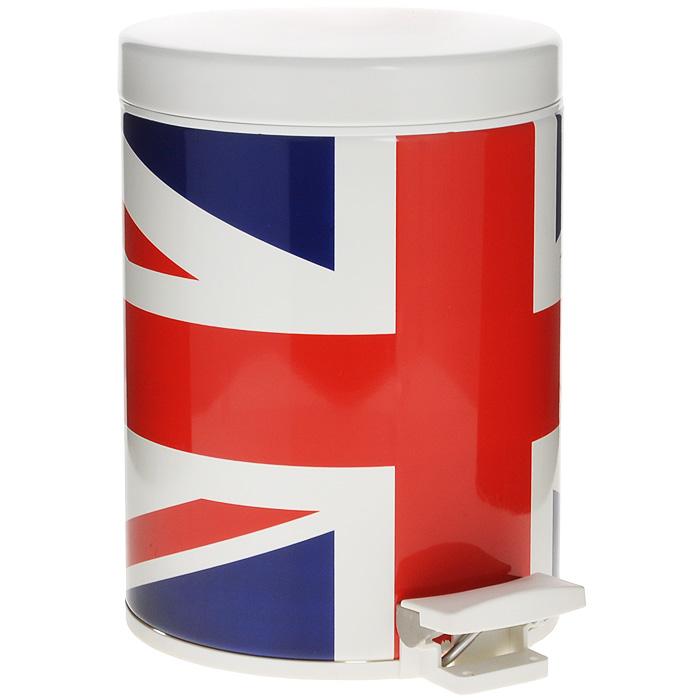 Ведро для мусора Brabantia Английский флаг, с педалью, 5 л531-105Ведро для мусора Brabantia изготовлено из высококачественной нержавеющей стали с изображением британского флага (Union Jack). Материал изделия обладает устойчивостью к коррозии, долговечностью и прочностью. Ведро оснащено педалью, с помощью которой открывается крышка. Крышка закрывается абсолютно бесшумно. Внутри содержится съемное пластиковое ведро с металлической ручкой. Это поможет содержать ведро в чистоте и предотвратит распространение неприятного запаха. На дне имеется пластиковая вставка, предотвращающая повреждение напольных покрытий. В комплекте - 5 пакетов для мусора объемом 5 л.