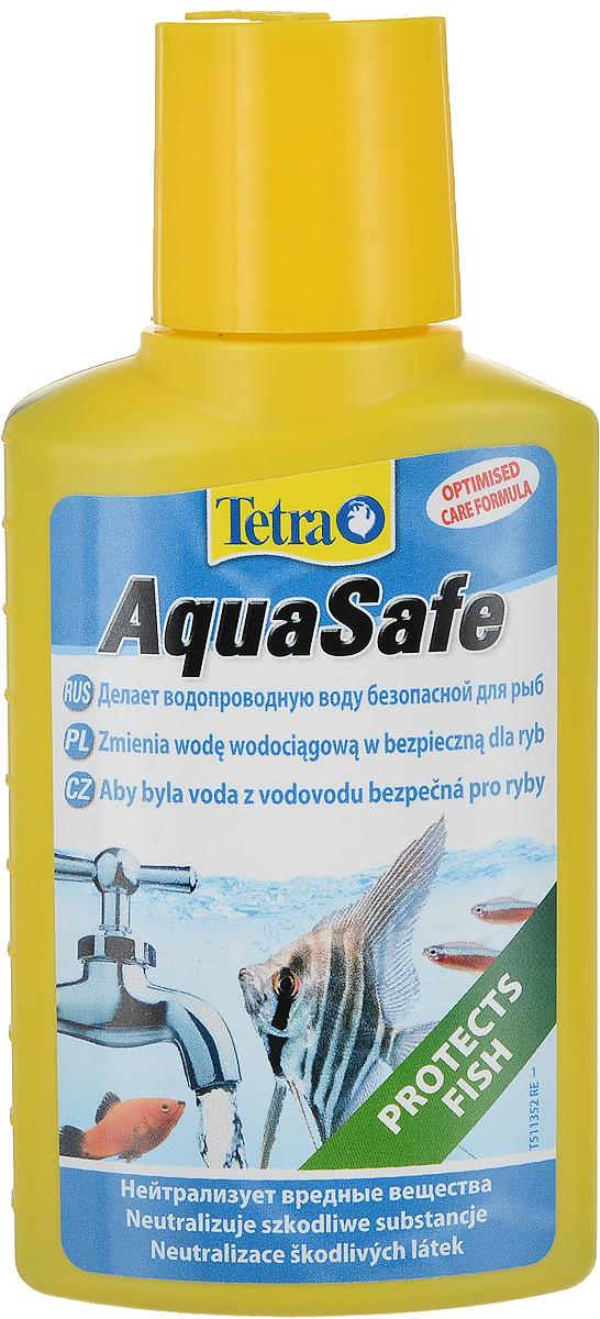 Кондиционер Tetra AquaSafe для подготовки воды аквариума, 100 мл101246Препарат Tetra AquaSafe для подготовки водопроводной воды в воду, пригодную для обитания аквариумных рыб. В состав входит формула BioExtract для здоровой прозрачной воды! новая формула помогает создать здоровую воду и обеспечить здоровье рыб за счет уникального сочетания природных биополимеров и микроэлементов;нейтрализует вредные для рыб вещества, содержащиеся в водопроводной воде. Хлор распадается, а такие тяжелые металлы как медь, цинк и свинец непрерывно и долгосрочно связываются;добавляет жизненно важные вещества, находящиеся в естественной среде обитания рыб, такие как йод, необходимый для активной жизнедеятельности рыб, магний, необходимый для роста и хорошего самочувствия, витамин В, помогающий справляться со стрессами;различные коллоидные вещества в полной степени обеспечивают защиту жабрам и плавникам;формула BioExtract, содержащая биополимерные вещества, обеспечивает рост полезных бактерий, что благоприятствует чистоте и прозрачности воды в аквариуме;используется при транспортировке рыб, при добавлении водопроводной воды и во время карантина;улучшает условия для содержания и размножения рыб;помогает восстановлению здоровья рыб после болезни;рекомендуем в комбинации с Tetra EasyBalance, при помощи которого стабилизируются показатели качества воды и значительно уменьшается число ее замен;для всех пресноводных и морских аквариумов.Состав: коллоидный раствор серебра, магний, витамин В1. Товар сертифицирован.