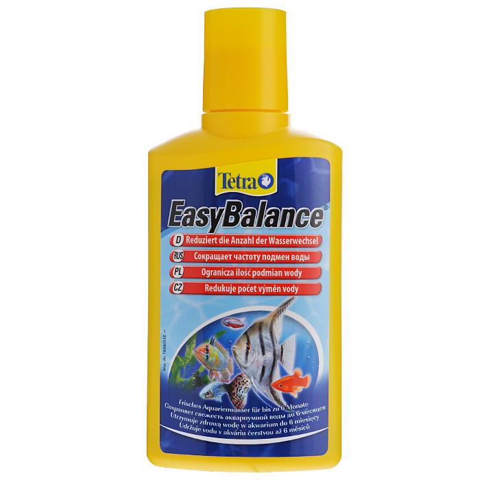 Кондиционер Tetra EasyBalance для стабилизации параметров воды, 250 мл139176Жидкий кондиционер Tetra EasyBalance для стабилизации среды обитания рыб, а также поддержания долгосрочного биологического равновесия в аквариуме - до 6 месяцев. Снижает количество замен аквариумной воды. стабилизация показателей рН и карбонатной жесткости (КН) воды приводит к минимизации изменений химического состава воды, а также к предотвращению быстрого падения кислотности, которое крайне негативно сказывается на состоянии здоровья рыб; биологическим способом снижает содержание фосфатов и нитратов, уменьшая тем самым рост водорослей; содержащиеся в продукте гранулы уменьшают содержание нитратов, быстро опускаясь на дно и распределяясь по всему аквариуму; наполняет аквариум витаминами, микроэлементами и минералами; при правильной дозировке обеспечивает здоровую среду обитания для ваших растений и рыб в пресноводном аквариуме на протяжении 6 месяцев; сокращает число замен воды; создает благоприятные условия для рыб и растений; для всех пресноводных аквариумовИнформация по действию препарата: Надежно стабилизирует рН и карбонатную жесткость (КН) воды, удаляет фосфор, дополняет разными витаминами, микроэлементами и минералами, снижает количество подмен воды. Обеспечивает здоровую среду обитания для Ваших растений и рыб в пресноводном аквариуме на протяжении 6 месяцев. Дозировка и способ применения Tetra EasyBalance: Каждую неделю добавлять 2,5 мл EasyBalance на 10 литров аквариумной воды. Еженедельное использование EasyBalance позволит менять воду в аквариуме дважды в год. Tetra EasyBalance абсолютно безопасен для всех видов рыб и креветок. Товар сертифицирован.