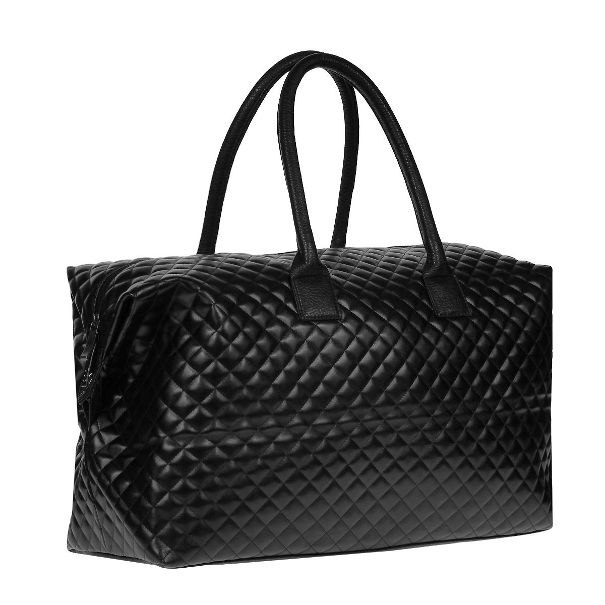 Сумка дорожная Antan, цвет: черный. 2-379S76245Вместительная дорожная сумка Antan выполнена из искусственной кожи. Внутри сумка состоит из одного отделения и закрывается на застежку-молнию. Внутри - плоский карман на застежке-молнии. Дно сумки уплотненное. Сумка оснащена двумя удобными ручками. Такая модель отлично подойдет для поездок.