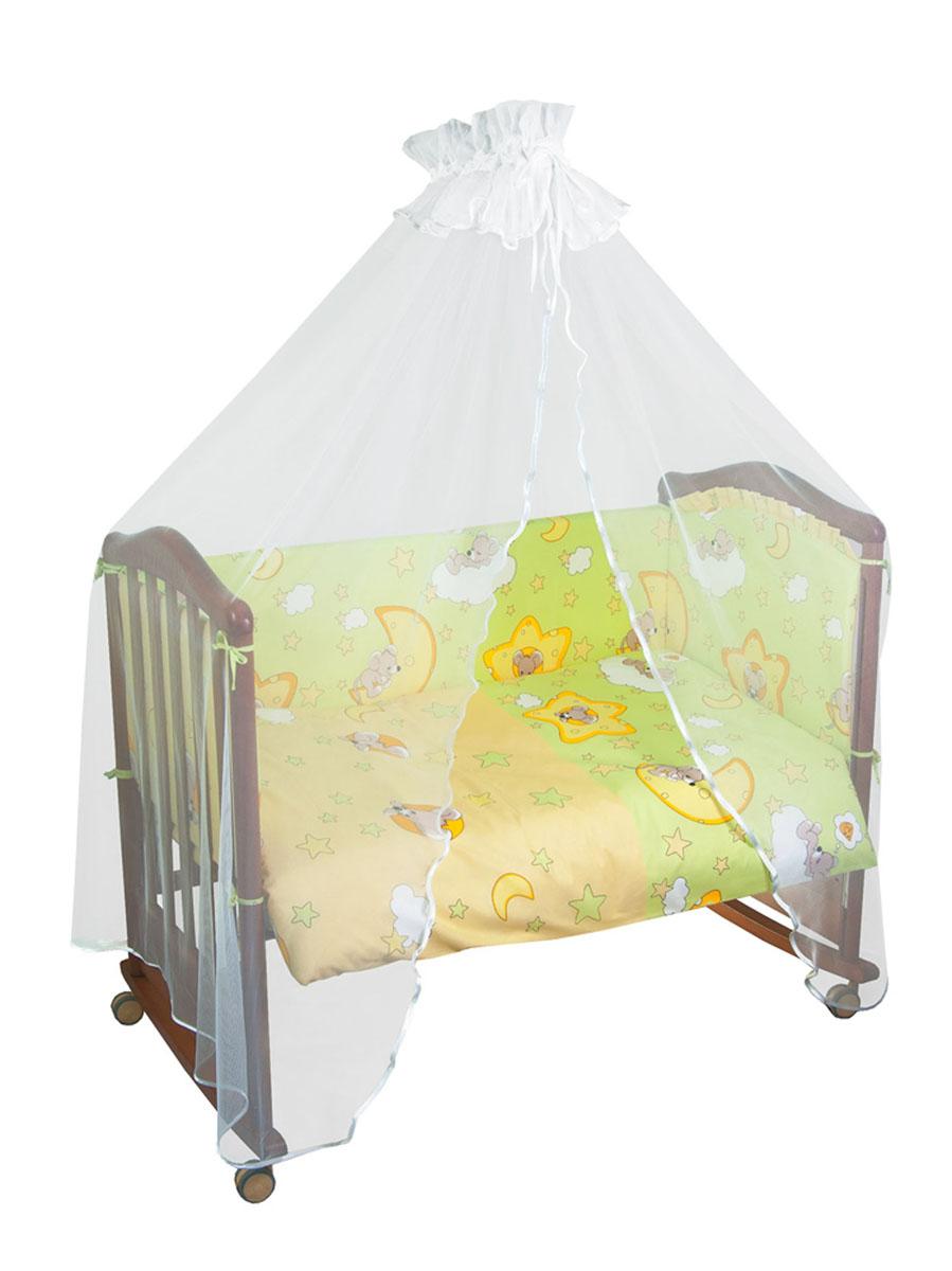 Бампер в кроватку Тайна снов Сыроежкины сны, цвет: салатовый