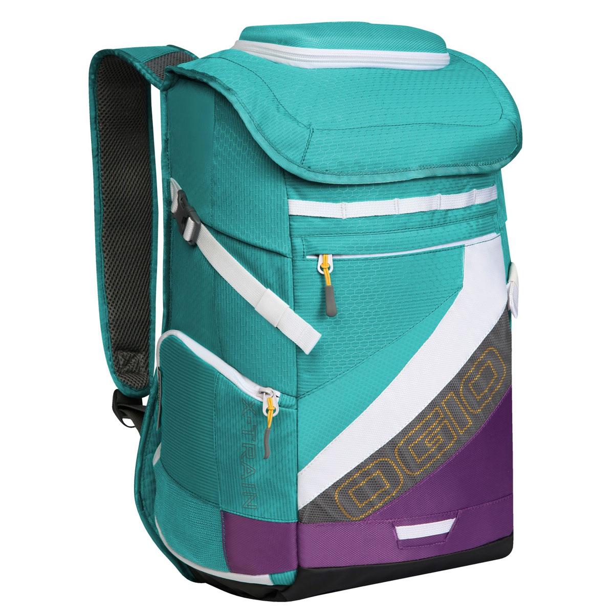 Рюкзак спортивный OGIO X-Train, цвет: голубой, фиолетовый. 112039.377УТ-000056291Спортивный рюкзак OGIO X-Train - это отличный помощник в вашей жизни. Он отлично подойдет для занятия спортом, фитнессом, туризмом, и для повседневной носки. Особенности: Удароустойчивый армированный карман.Отстегиваемая внешняя лямка для крепления шлема.Боковые ремешки для крепления полотенец или ковриков.Специальный отдел для хранения сухой/мокрой одежды или обуви в режиме тренировки или для iPad в режиме обучения.Высокопрочные и легкие материалы.Перегородка отделяет основное отделение от отделения для мокрой/сухой одежды или обуви.Особое покрытие отделения для мокрой/сухой одежды или обуви облегчает чистку.Эргономичные, регулируемые плечевые лямки, подбитые мягким материалом.Устойчивая к трению брезентовая основа.Встроенный полноразмерный карман для бутылки.Регулируемый нагрудный ремень.Объем: 23 л.Материал: Кросс-добби 420D, гекс-рипстоп 210D.
