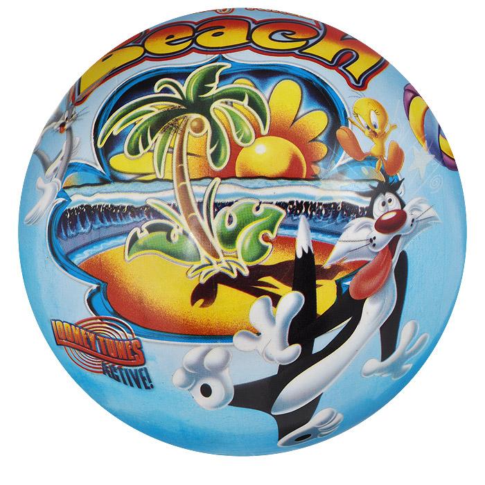 """Яркий детский мяч Dema-still """"Луни Тюнз"""" - это игрушка для детей любого возраста. Он выполнен из ПВХ голубого цвета и оформлен изображениями персонажей мультсериала """"Looney Tunes"""". Мяч незаменим для любителей подвижных игр и активного отдыха, также он подходит для игр на воде. Игры с мячом развивают координацию движений, мелкую моторику рук и способствуют физическому развитию ребенка. УВАЖАЕМЫЕ КЛИЕНТЫ! Просим вас обратить внимание на тот факт, что мяч поставляется в сдутом виде и надувается при помощи насоса (насос не входит в комплект)."""